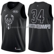 Maillot NBA Pas Cher Milwaukee Bucks Giannis Antetokounmpo 34# Black 2018 All Star Game Swingman..